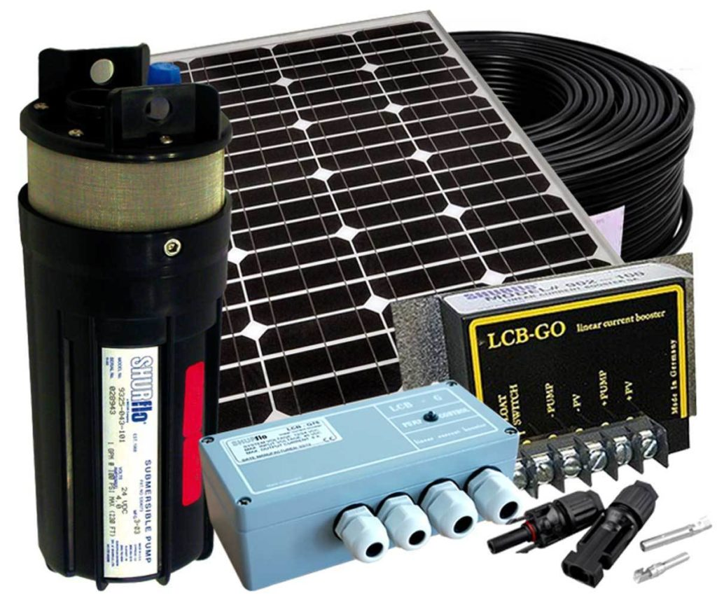 POMPA SOMMERSA SOLARE 12-24 VOLTS